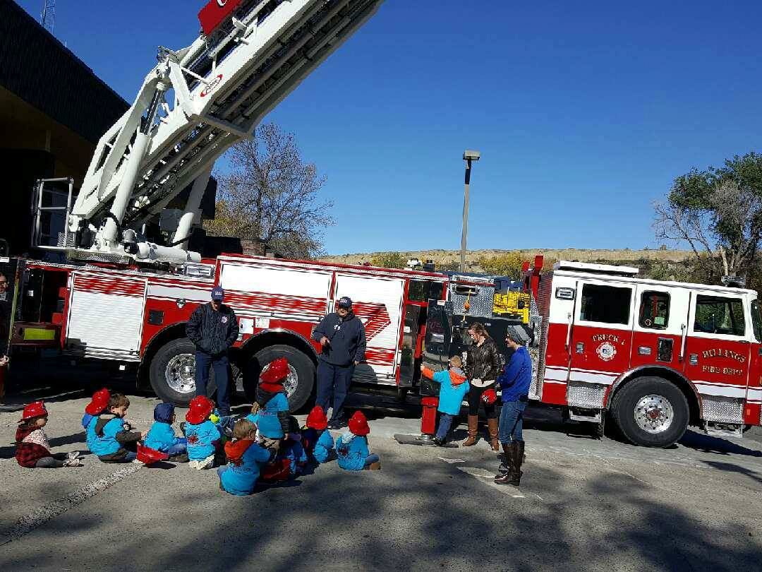 Kids Enjoy a presentation in front of Billings Truck 1