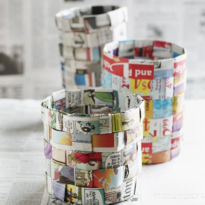 Newspaper Weaving